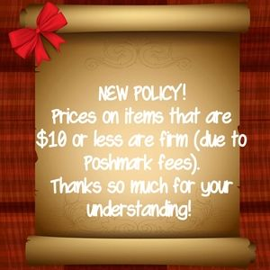 NEW PRICE POLICY